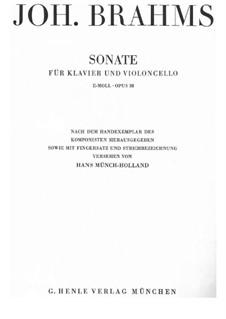 Соната для виолончели и фортепиано No.1 ми минор, Op.38: Партитура by Иоганнес Брамс