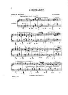 Листок из альбома для фортепиано: Листок из альбома для фортепиано by Саломон Ядассон
