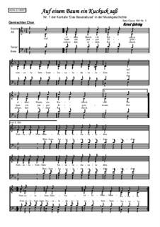 Das Basaladusa, Op.180: Nr.1 Auf einem Baum ein Kuckuck saß by folklore