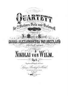 Струнный квартет No.1, Op.4: Струнный квартет No.1 by Николай фон Вильм