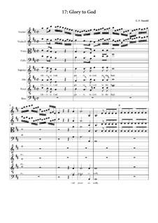 No.17 Слава в вышних Богу: Партитура by Георг Фридрих Гендель