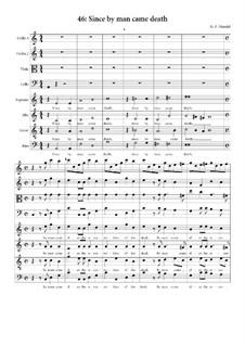 No.46 Ибо, как смерть через человека: Партитура by Георг Фридрих Гендель
