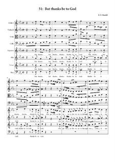 No.51 Благодарение Богу: For choir and quartet by Георг Фридрих Гендель