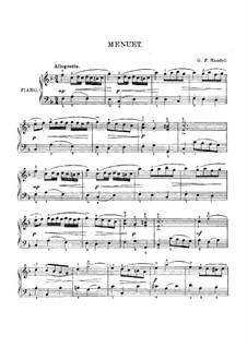 Менуэт фа мажор: Для фортепиано by Георг Фридрих Гендель