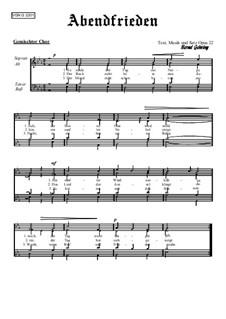 Abendfrieden, Op.22: Abendfrieden by Bernd Gehring