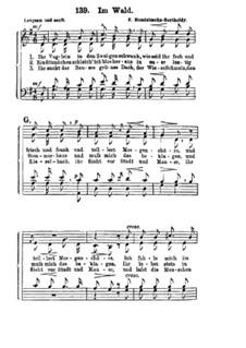 Шесть песен, Op.41: Nr.1 Im Wald by Феликс Мендельсон-Бартольди