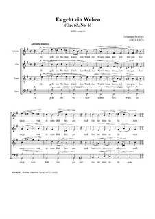 Семь песен, Op.62: Nr.6 Es geht ein Wehen by Иоганнес Брамс