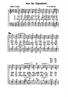 Aus der Jugendzeit, Op.22: Singpartitur by Роберт Радеке