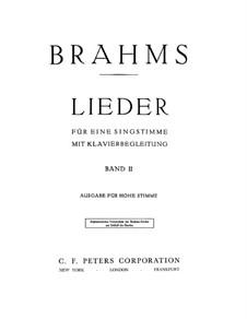 Избранные песни II: Избранные песни II by Иоганнес Брамс