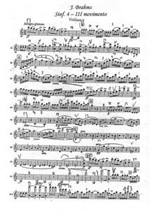 Часть III: Партия первой скрипки by Иоганнес Брамс