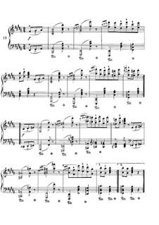 Вальс No.13: Аранжировка для фортепиано by Иоганнес Брамс