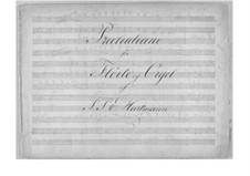 Прелюдия соль минор для флейты и органа: Партитура by Иоганн Петер Эмилиус Хартман