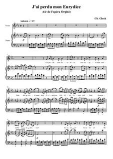 Потерял я Эвридику: Клавир с вокальной партией by Кристоф Виллибальд Глюк