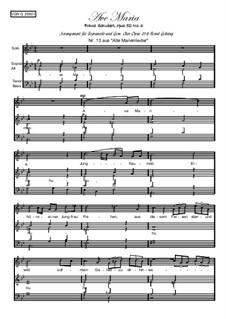 Аве Мария (вокально-фортепианная партитура), D.839 Op.52 No.6: Для сопрано и смешанного хора, Gehring 258 by Франц Шуберт
