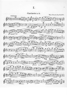 Восемь пьес , Op.83: No.1-4 Партия кларнета by Макс Брух