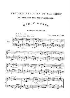 Дикая роза, D.257 Op.3 No.3: Аранжировка для фортепиано by Франц Шуберт