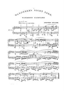 Ночная песня странника I, D.224 Op.4 No.3: Аранжировка для фортепиано by Франц Шуберт