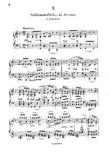 Le berceuse (Slumber Song), D.527 Op.24 No.2: Аранжировка для фортепиано by Франц Шуберт
