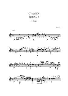 Cyanen als Folge der Nachtviolen, Op.5: Для гитары by Иоганн Каспар Мерц