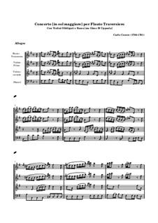 Концерт для флейты и струнных соль мажор: Концерт для флейты и струнных соль мажор by Карло Чечере