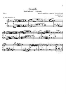 No.6 Progrès (Progress): For piano by Иоганн Фридрих Бургмюллер