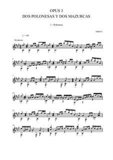 Два полонеза и две мазурки: Для гитары by Иоганн Каспар Мерц