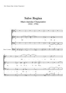 Salve Regina: Salve regina by Марк-Антуан Шарпантье