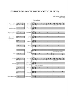 In honorem sancti Xaverii canticum, H.355: In honorem sancti Xaverii canticum by Марк-Антуан Шарпантье