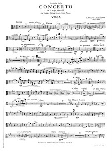 Концерт для фортепиано, скрипки и струнного квартета, Op.21: Партия альта by Эрнест Шоссон