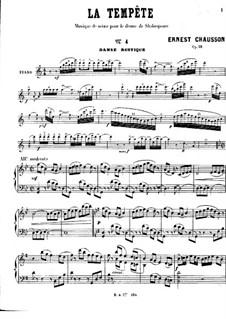 Буря, Op.18: Danse rustique, for Piano by Эрнест Шоссон