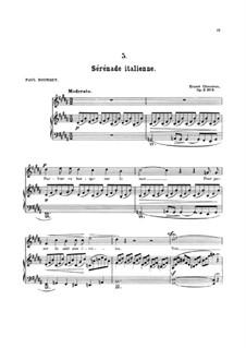 Семь мелодий для голоса и фортепиано, Op.2: No.5 Итальянская серенада by Эрнест Шоссон