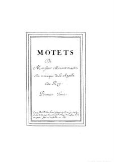 Шесть больших мотетов: No.1-3 by Guillaume Minoret