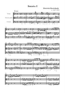 Семь сонат для скрипки, виолы да гамба и бассо континуо: Сборник, BuxWV 252-258 Op.1 by Дитрих Букстехуде