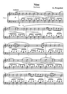 Три дня уже как Нина: Для фортепиано by Джованни Баттиста Перголези
