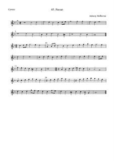 Павана для струнных инструментов (фа мажор): Cantus by Anthony Holborne