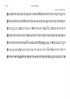 Павана для струнных инструментов (фа мажор): Altus by Anthony Holborne