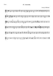 Amoretta: Тенор by Anthony Holborne