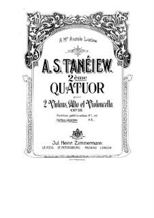 Струнный квартет No.2 до мажор, Op.28: Партии by Александр Танеев