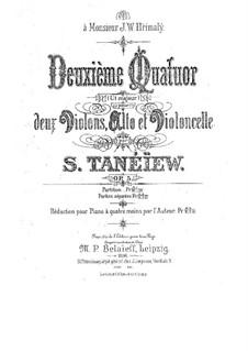 Струнный квартет No.2 до мажор, Op.5: Партии by Сергей Танеев