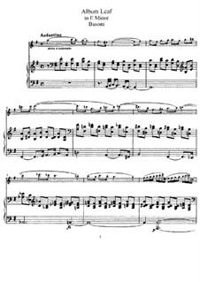 Три листка из альбома, BV 289: No.1, клавир для флейты и фортепиано, сольная партия by Ферруччо Бузони
