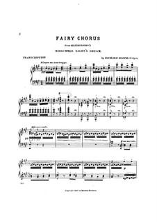 Песня с хором: Для фортепиано by Феликс Мендельсон-Бартольди