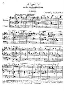 Angelus, for Organ, Op.27 No.5: Angelus, for Organ by Зигфрид Карг-Элерт