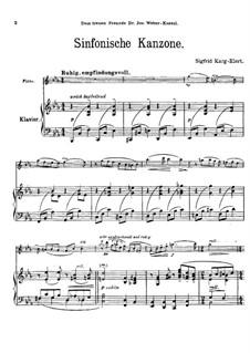 Симфоническая канцона для флейты и фортепиано, Op.114: Партитура by Зигфрид Карг-Элерт