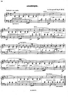 Арабески для фортепиано, Op.6: Арабеска No.2 by Genari Karganoff