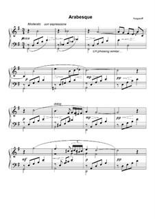 Арабеска для фортепиано соль мажор: Арабеска для фортепиано соль мажор by Genari Karganoff