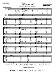 Abendliederzyklus: Abendfrieden, Op.220: Abendliederzyklus: Abendfrieden by Клемент Коттерил