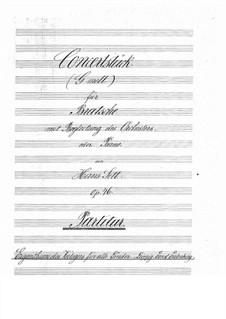Концертная пьеса соль минор, Op.46: Партитура by Ганс Зитт