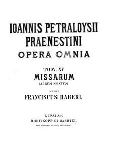 Мессы: Книга VI by Джованни да Палестрина