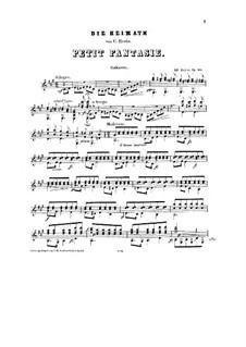 Фантазия на тему 'Die Heimath' Кребса, Op.20: Для гитары by Eduard Bayer