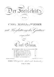 Фрагменты: Для голосов и гитары by Карл Мария фон Вебер